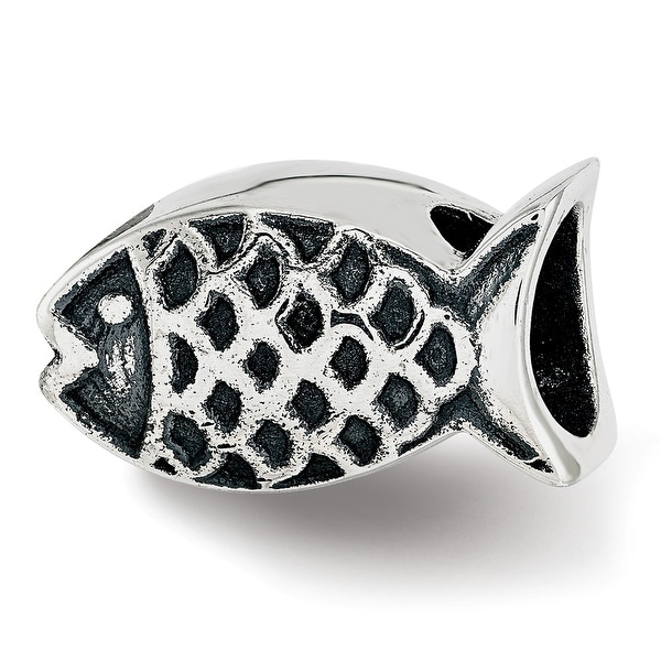 Sterling Silver Reflections Fish Bead (4.5mm Diameter Hole)