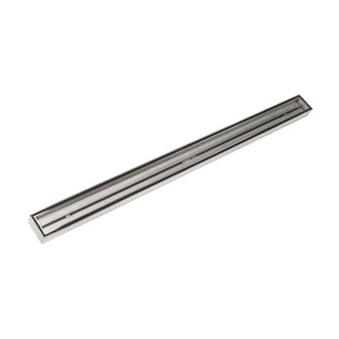 "Infinity Drain FXTIF 6520 Fixed Length Stainless Steel 20"" Linear Shower Drain with 2"" Outlet -"