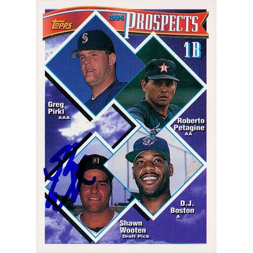 Signed Wooten Shawn Detroit Tigers 1994 Topps Baseball Card Autographed