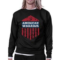 American Warrior Unisex Graphic Sweatshirt Black Crewneck Pullover