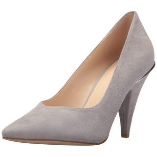 Nine West Womens Whistles Leather Pointed Toe Classic Pumps