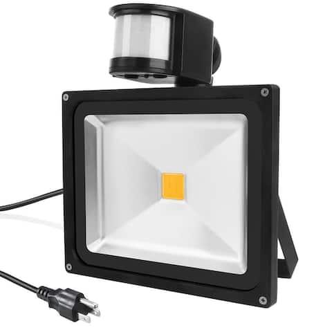 LED Motion Sensor Flood Light, Outdoor IP65 Waterproof Security Wall Lighting with Sensitive Detector