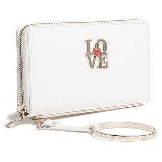 Moschino JC5511 0100 White Zip Around Wallet - 7.5-4-1.2