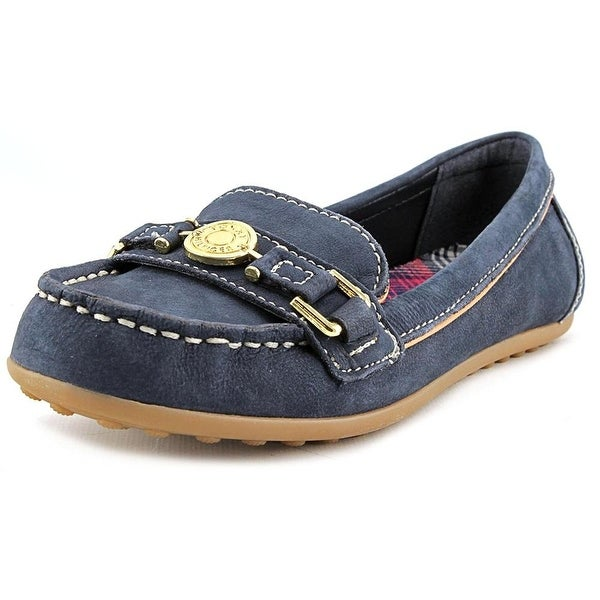 5159b8a9f327 Shop Tommy Hilfiger Womens ELSIE Leather Loafers - Free Shipping On ...