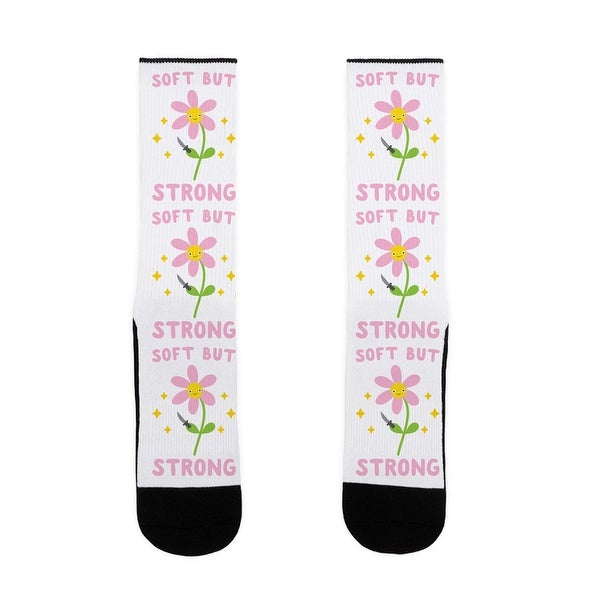 LookHUMAN Soft But Strong Flower US Size 7-13 Socks