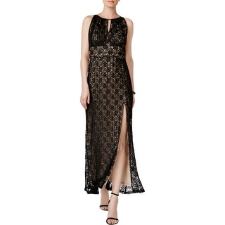 R&M Richards Womens Evening Dress Lace Halter