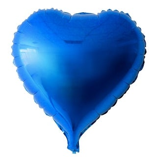 Foil Heart Shape Balloon Wedding Party Birthday Celebration Decor Blue 10""