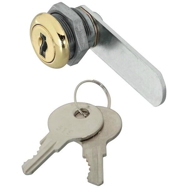 National Hardware N239-145 Door & Drawer Keyed Different Utility Lock, Brass