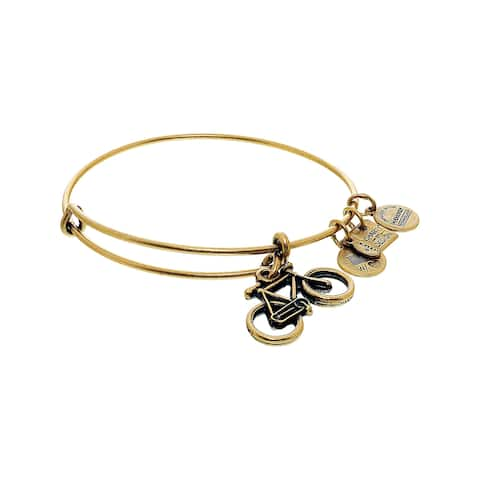 "Alex And Ani Women's Bike Bangle Bracelet - 9"" - Gold"