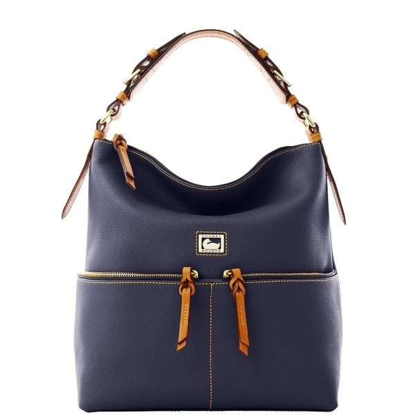 Dooney & Bourke Dillen Medium Zipper Pocket Sac (Introduced by Dooney & Bourke at $288 in Jul 2012) - Navy