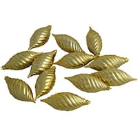 """Club Pack of 12 Gold Glamour Shatterproof Finial Christmas Ornaments 4.75"""""""