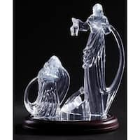 "4-Piece Religious LED Lighted Acrylic Christmas Holy Family Nativity 10.5"""