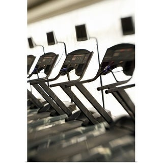 """""""Treadmills in gym"""" Poster Print"""
