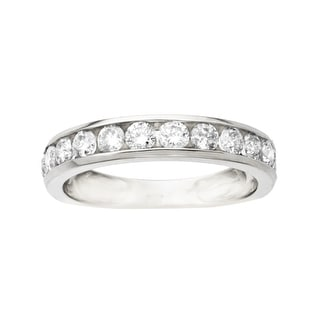 1 ct Diamond Anniversary Band in 10K White Gold