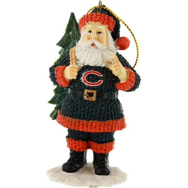 Chicago Bears Santa Toting Tree Ornament