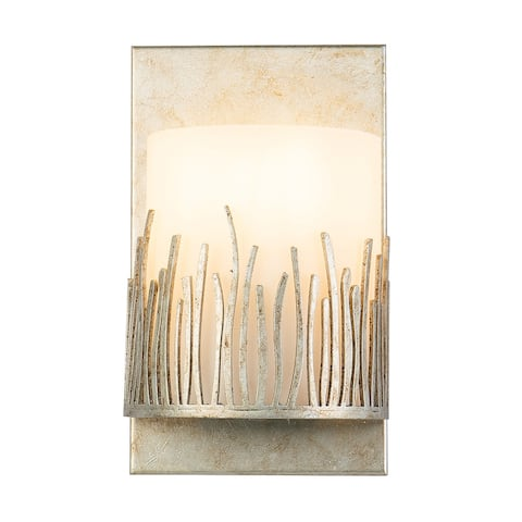 1 Light Wall Sconce in Distressed Silver
