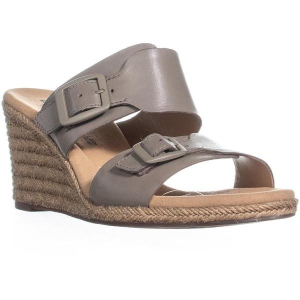 db34cf8ca83 Shop Clarks Lafley Devin Wedge Espadrilles Sandals, Sage - On Sale ...