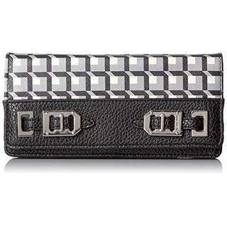 Nine West Womens Faux Leather Organizational Clutch Wallet - o/s