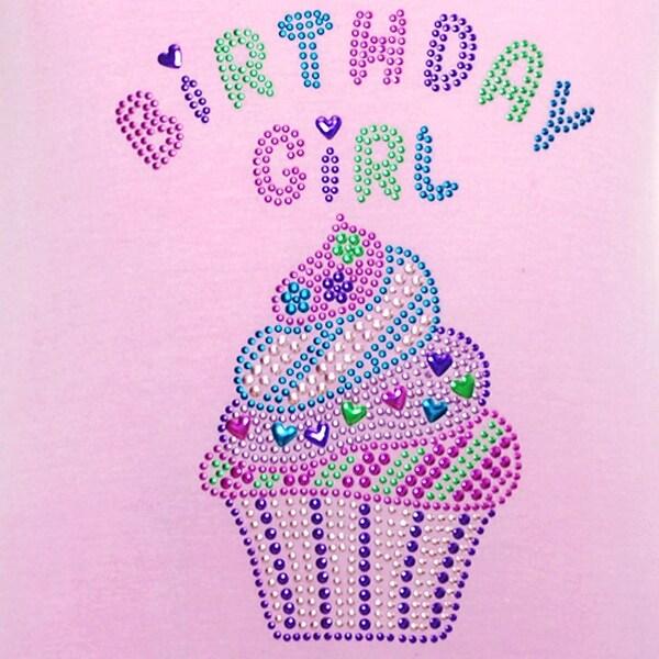 Pink Aqua Birthday Girl Cupcake Dress Toddler Little Girls 6M-6X