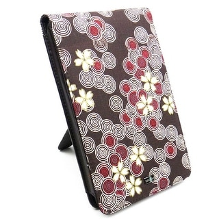"JAVOedge Brown and Red Cherry Blossom Flip Case with Built in Stand for Amazon Kindle Fire 7"" - 1st Generation"