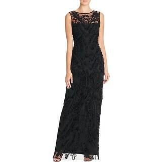 JS Boutique Womens Evening Dress Lace Overlay Sheath