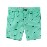 Carter's Baby Boys' Printed Flat-Front Canvas Shorts, 6 Months