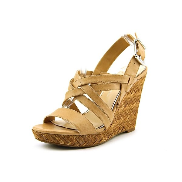 Jessica Simpson Julita Women  Open Toe Synthetic Tan Wedge Sandal
