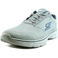 Skechers Exceptonal Men  Round Toe Canvas Gray Walking Shoe