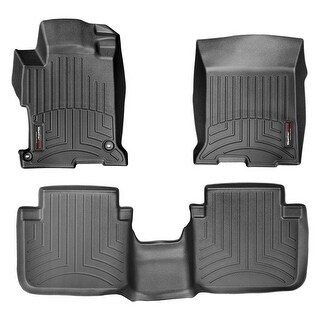WeatherTech 44481-1-2 Black Front & Rear FloorLiner: Honda Accord 2013 + Sedan
