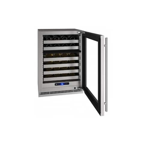 Wine Captain 24 In Dual Zone Reversible Hinge Stainless Frame 115v