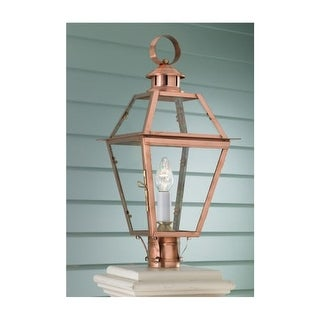 "Norwell Lighting 2250 Old Colony Copper Single Light 22"" Tall Outdoor Post Light with Clear Glass Shade"