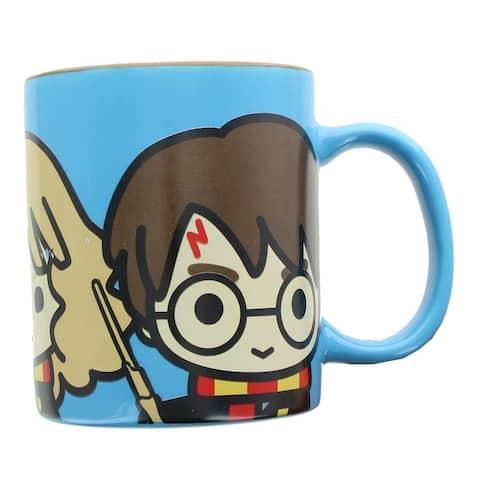 Harry Potter Chibi Characters 11oz Ceramic Coffee Mug - Blue