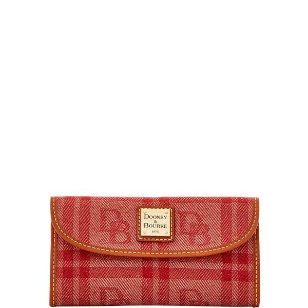 Dooney & Bourke DB Plaid Jacquard Continental Clutch (Introduced by Dooney & Bourke at $118 in Jul 2016)