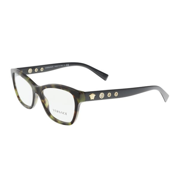 64740ac4d9 Versace VE3225 5183 52 Havana Military Cat Eye Optical Frames - 52-16-140