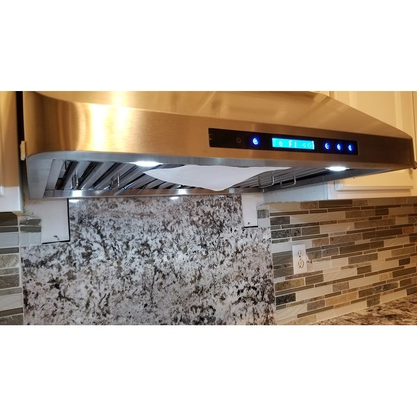 Cosmo 30 Inch Range Hood 900 Cfm Ducted Under Cabinet Stainless Steel Silver On Free Shipping Today 11769083