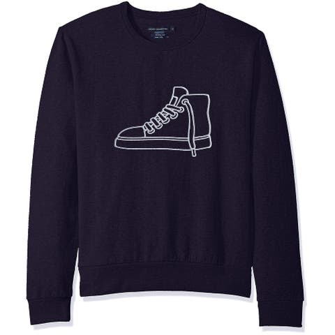 French Connection Mens Sweater Navy Blue Size Large L Crewneck Sneaker