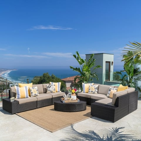 Santa Cruz Outdoor 8-piece Sectional Set by Christopher Knight Home