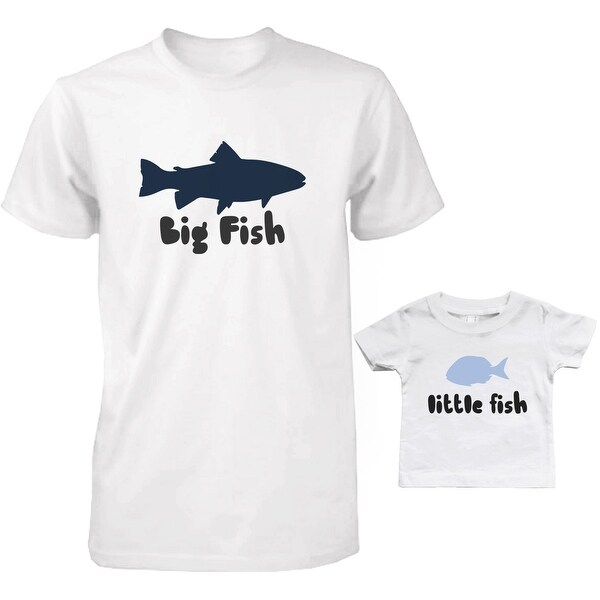 Big Fish and Little Fish Dad and Baby Matching T-Shirts