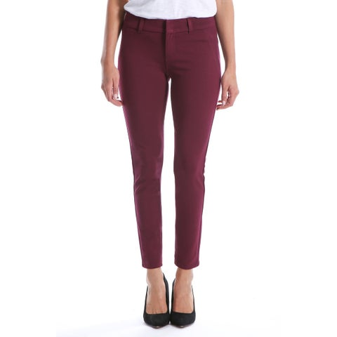 KUT From The Kloth Red Women's Size 0X28 Front-Tab Dress Pants Stretch