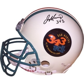 Dan Marino signed Miami Dolphins 343 TD Logo Full Size TB Proline Helmet 343 LTD 163/343 (left side sig)- UDA & Beckett Hologram