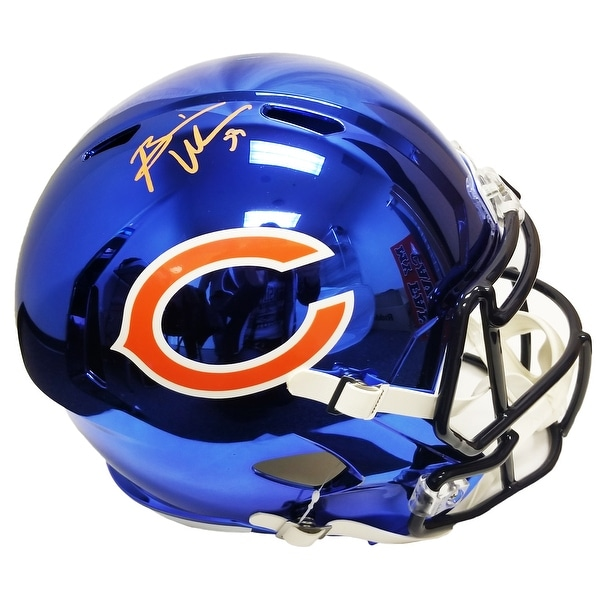e46751d294e Shop Brian Urlacher Chicago Bears Chrome Riddell Speed Full Size Replica  Helmet - Free Shipping Today - Overstock - 25684696