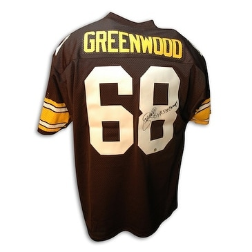 best sneakers 112de 3ad93 Autographed L.C. Greenwood Pittsburgh Steelers Throwback Jersey Inscribed  4X SB Champs
