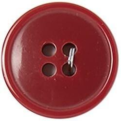 "Red 4-Hole 3/4"" 3/Pkg - Slimline Buttons Series 1"