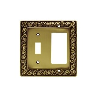Franklin Brass 64053 Paisley Series Single Switch and Decorator Wall Plate