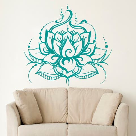 Lotus Wall Decal Boho Bedroom Sticker
