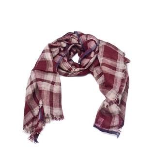Brunello Cucinelli Silk Unisex Cashmere Red Lurex Scarf