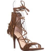 Jessica Simpson Mareya Fringe Sandals, Spice Brown