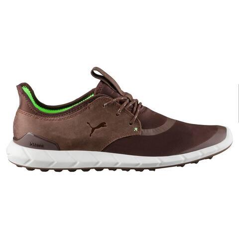Puma Men's Ignite Spikeless Sport Chestnut/Green Gecko Golf Shoes 460023-04