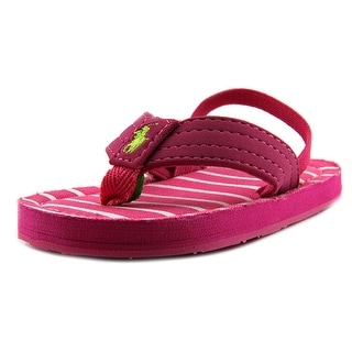 Ralph Lauren Layette Theo Infant Open Toe Synthetic Thong Sandal