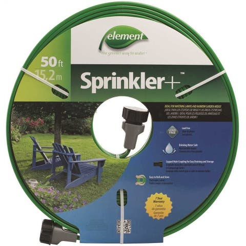 Swan ELTECV050 Element Sprinkler Soaker Hose, 50', Assorted Colors